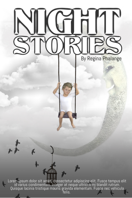 Night Stories Book Cover Template