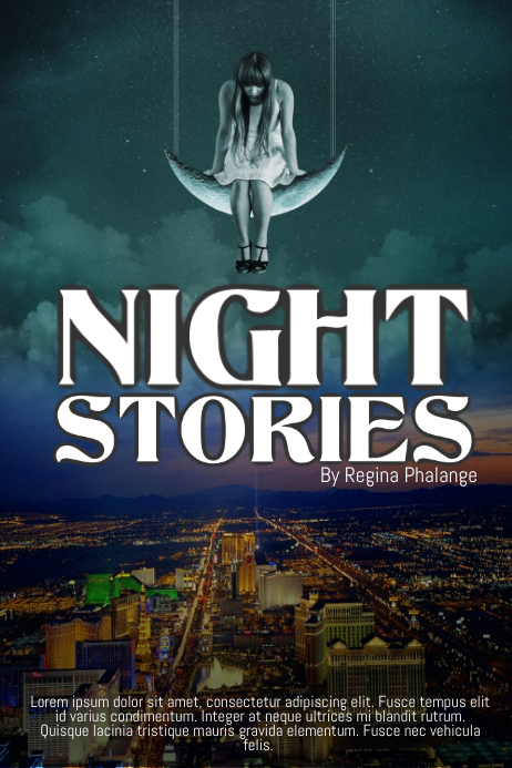 Night Stories Children Book Cover Movie Film Template