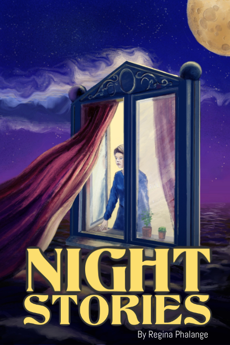 Night Stories Kids Book Cover Movie Film Template