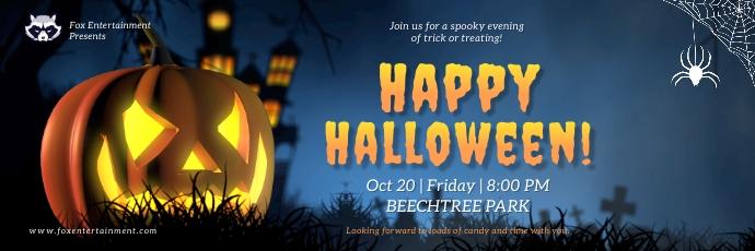 Night theme Halloween Twitter header Twitter-header template