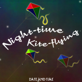 night-time kite-flying event