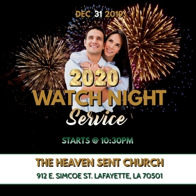 WATCH NIGHT NEW YEARS CHURCH FLYER