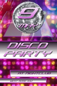 NIGHTCLUB DISCO PARTY POSTER/AD/FLYER VIDEO