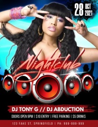 Nightclub Event Video Poster Flyer (US Letter) template