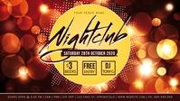 Nightclub Facebook Event Cover Film w tle na Facebooka (16:9) template