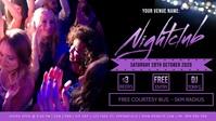 Nightclub Facebook Video Event Cover Film w tle na Facebooka (16:9) template
