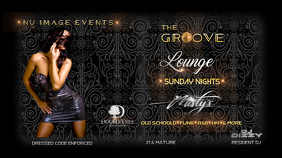 nightclub flyer Display digitale (16:9) template