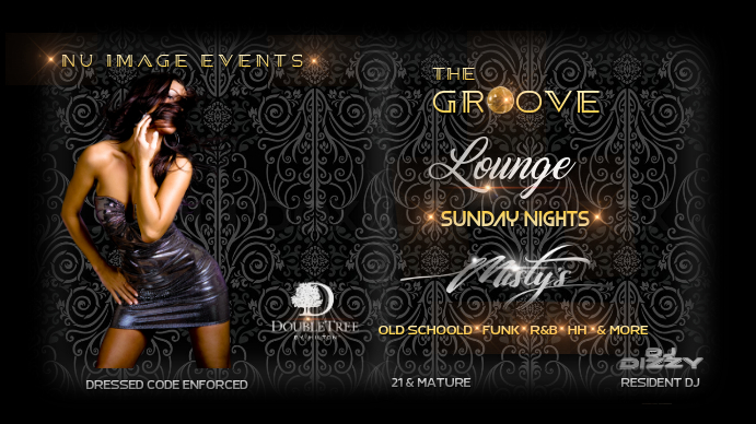 nightclub flyer Digitale display (16:9) template