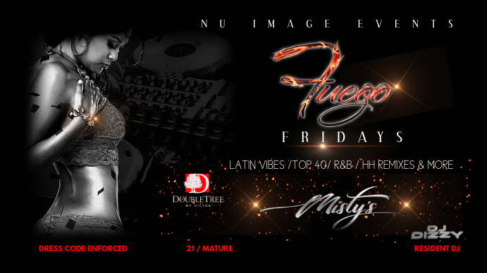 nightclub flyer Tampilan Digital (16:9) template