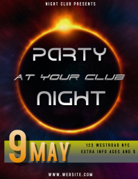 NIGHTCLUB PARTY NIGHT POSTER/AD/FLYER