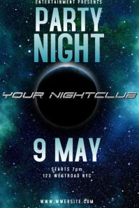 NIGHTCLUB PARTY POSTER/AD/FLYER