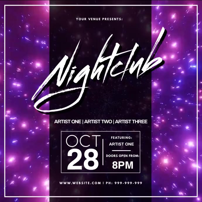 Nightclub Video Poster Instagram Plasing template
