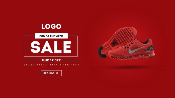 Nike Shoes Facebook Ad Affichage numérique (16:9) template
