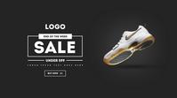 Nike Shoes Facebook Ad Digitalt display (16:9) template