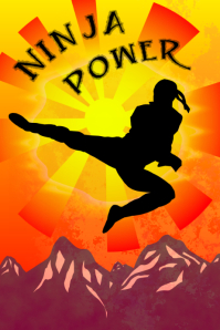ninja power poster - japanese martial art inspiration