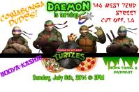 Ninja Turtles Boy's Birthday Invite