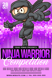Ninja Warrior Competition Poster