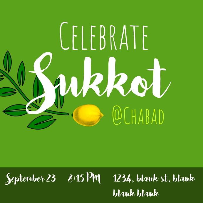 No animation Celebrate sukkot Instagram-opslag template