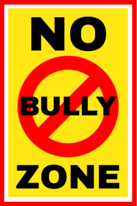 No Bully Zone Sign Board Template Banner 4 x 6 fod