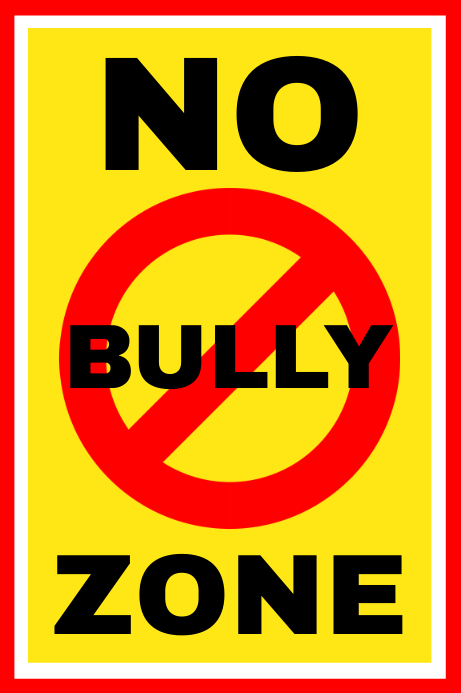 No Bully Zone Sign Board Template Spanduk 4' × 6'
