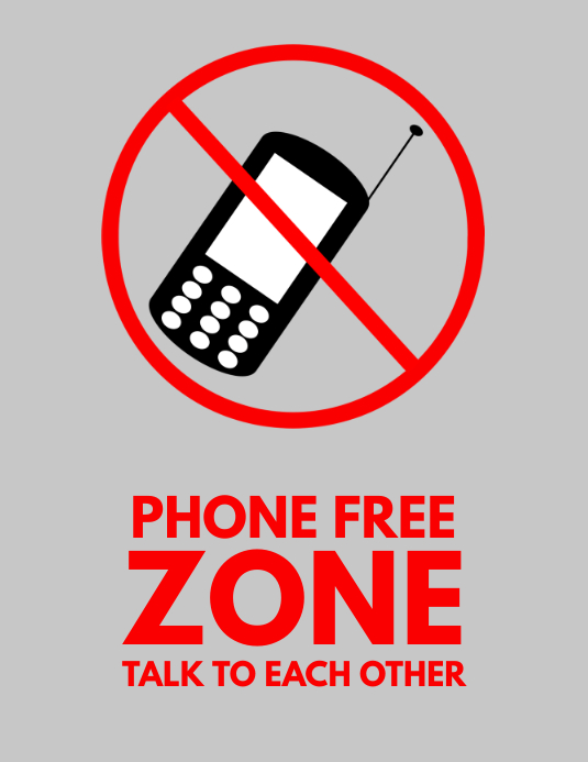 graphic regarding No Cellphone Sign Printable referred to as no mobile telephone indicator no cost flyer template PosterMyWall