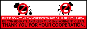 No Dogs Allowed This Area Sign Board Template Bannière 2' × 6'