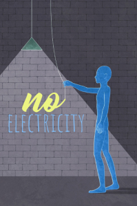 no ELECTRICITY Cartaz template