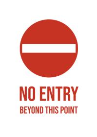 No entry beyond this point A4 template