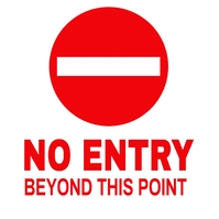 NO ENTRY Instagram-Beitrag template