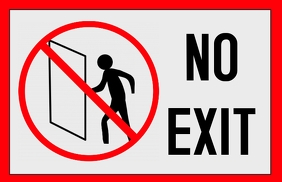 no exit sign - not an exit door
