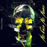 No Face No Name Skull Mixtape CD Cover ปกอัลบั้ม template