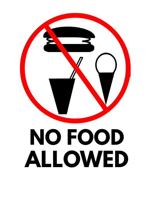 No Food Sign Free Flyer Template Postermywall