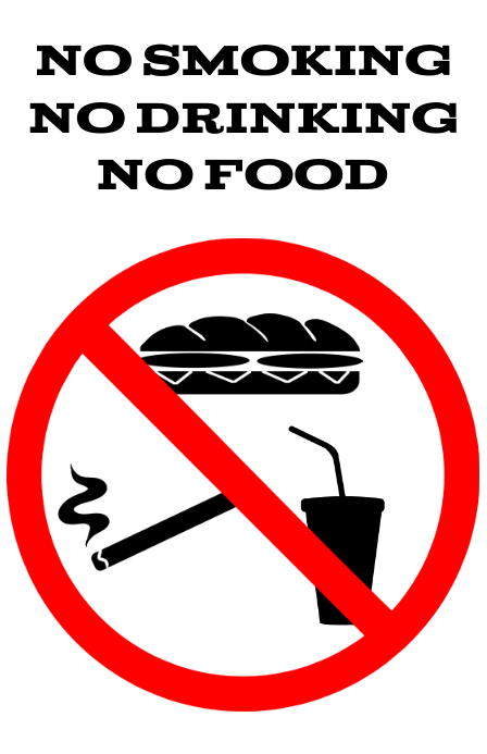 no food smoking drinking comsumtion - Forbidden alert or attention sign