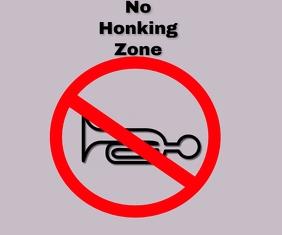 no honking sound zone template Mittelgroßes Rechteck