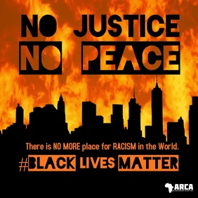 No Justice No Peace Black Lives Matter Video Square (1:1) template