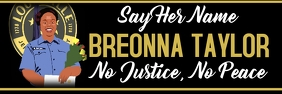 no justice no peace justice for breonna แบนเนอร์ 2' × 6' template