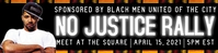 No justice no peace protest sign banner template