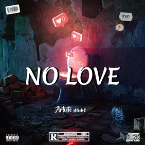 NO LOVE - CD cover art - Capa de álbum template