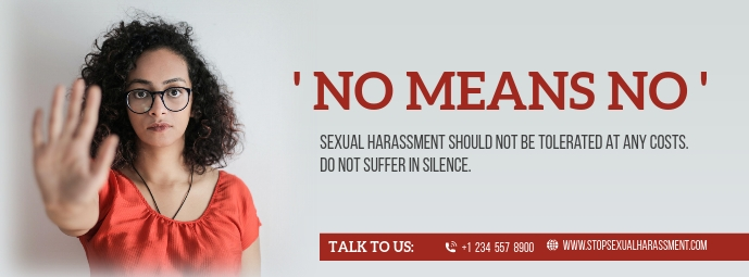 No means No Sexual Harassment Facebook Cover