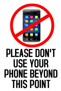 No Mobiles Cell Phones Template