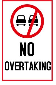 No overtaking โปสเตอร์ template