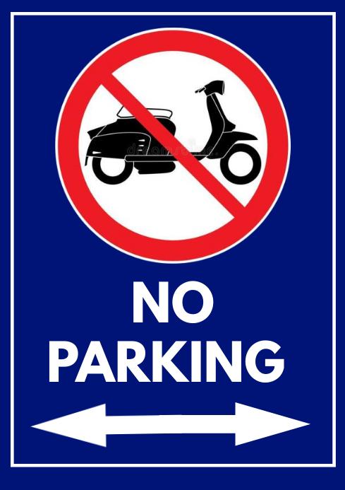 No parking A4 template