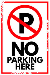 No Parking Here Sign Poster Template