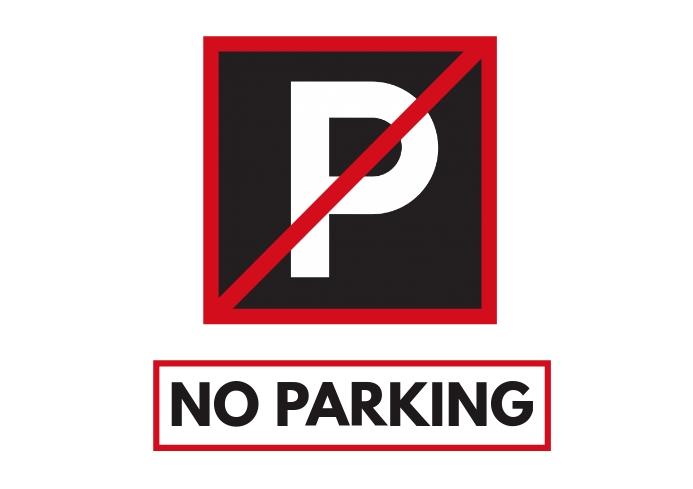 No Parking sign a4