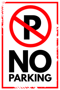 No Parking Sign Poster Template