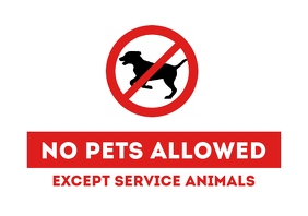 No Pets Allowed door sign printable a4 template
