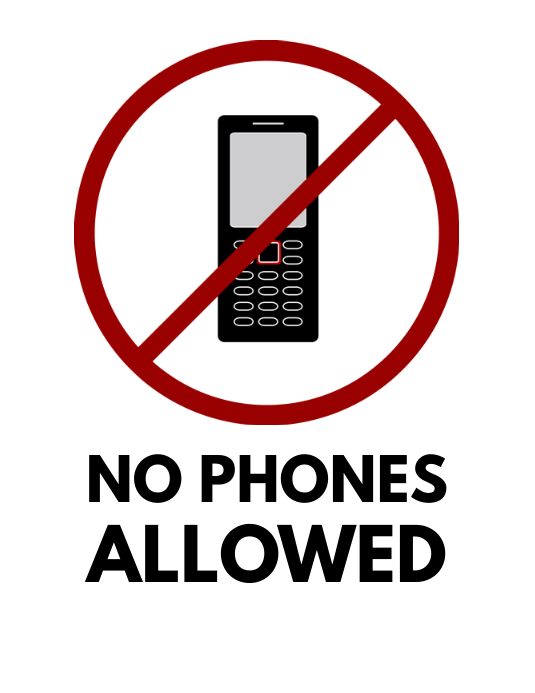 no phones sign template