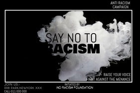 NO RACISM CAMPAIGN แบนเนอร์ 4' × 6' template