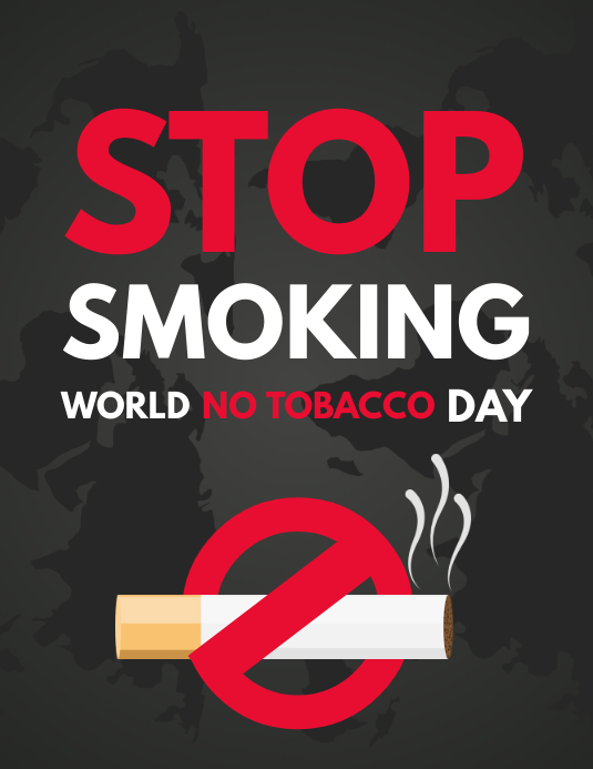 No Smoking Day Flyer, No Tobacco Day, Smoking Kills