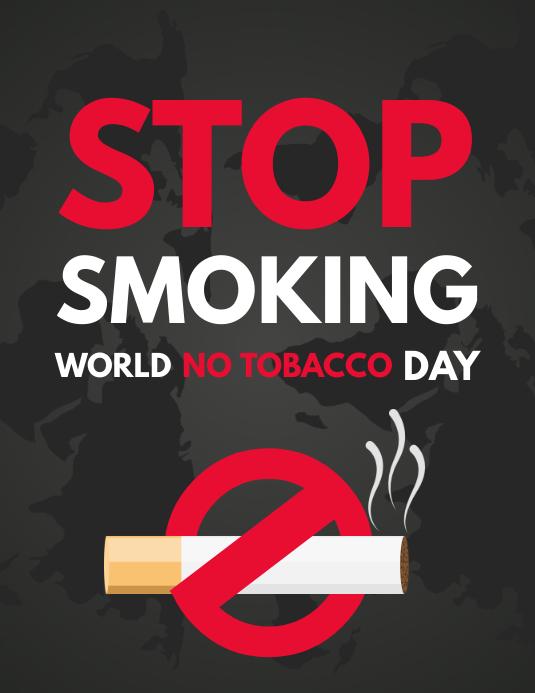 No Smoking Day Flyer, No Tobacco Day, Smoking Kills